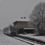 Vor dem alten Bahnhof in Gebenbach