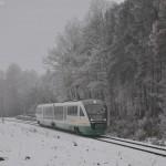 Durch die eisig kalte Winterlandschaft