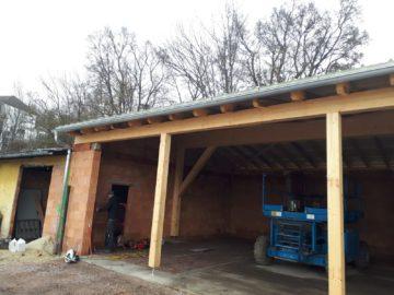 Fahrzeughalle Dach
